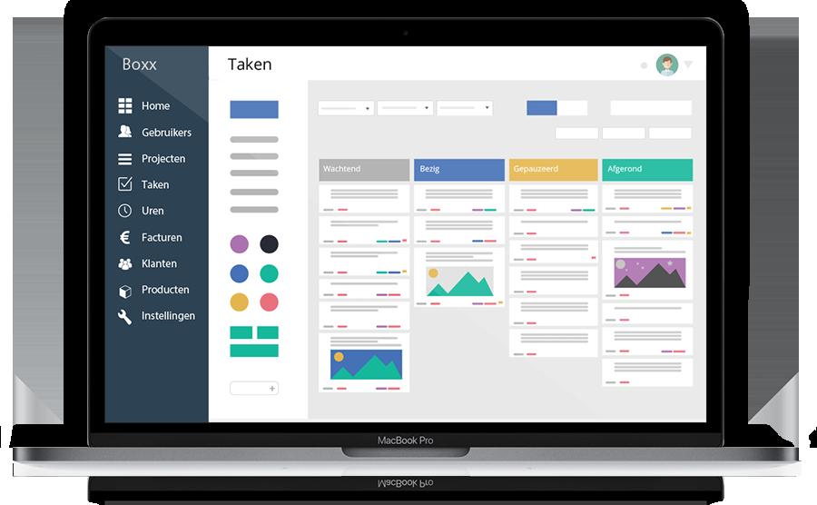 online project management boxxpro tab view
